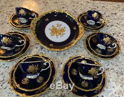 Vintage Reichenbach Echet Cobalt Tea/Coffee Set! Made In Germany