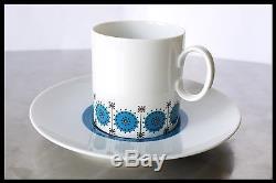 Vintage Retro 1960's Thomas German Coffee Set Blue Atomic Style Bavaria Design