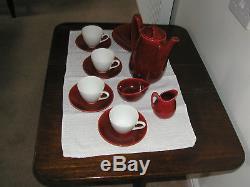 Vintage Rorstrand Bla Elb, Rörstrand Coffee set by Hertha Bengtsson