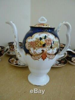 Vintage Royal Albert Derby/Heirloom Coffee Set inc Coffee Pot 4534