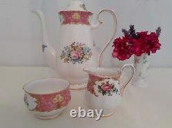 Vintage Royal Albert Lady Carlyle15 piece coffee set1950's gilt edged