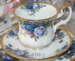 Vintage Royal Albert Moonlight Rose 21-Piece Coffee Set inc Coffee Pot UNUSED