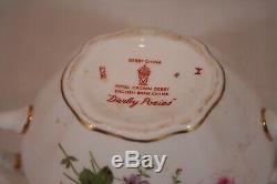 Vintage Royal Crown Derby China Derby Posies Pattern 3 Piece Coffee Set Mint