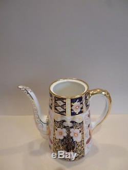 Vintage Royal Crown Derby Imari 15 Piece Coffee Set For 6 No. 2451 Pristine Con