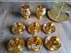 Vintage Royal Winton Grimwades Gold Tea/Coffee Set. Collection of 28 Items