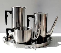 Vintage STELTON 4Pc Arne Jacobsen COFFEE & TEA Set Danish Modern MID CENTURY