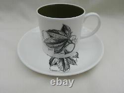 Vintage SUSIE COOPER Black Fruits COFFEE POT SET includes 5 x Cups & Saucers