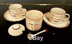 Vintage Sanrio Hello Kitty Ceramic Coffee Tea Set Complete Sugar Bowl 1976