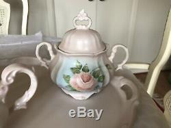 Vintage Schumann Bavaria-Arzberg Germany-Rose Blush Porcelain Tee/ Coffee Set