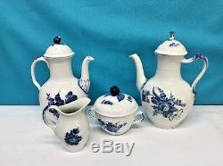Vintage Set Of Four Royal Copenhagen Coffee Set total of 7 pieces