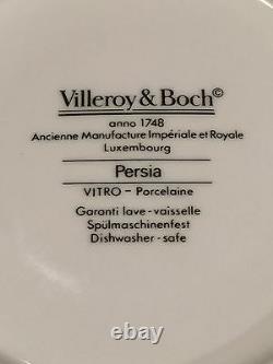 Vintage Set of VILLEROY & BOCH Persia Pattern 8 Coffee/Tea Cups & 8 Saucers