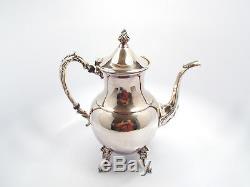 Vintage Sheridan Silver on Copper 5 Piece Coffee Tea Set