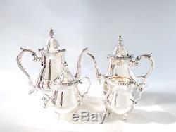 Vintage Silver Plate Coffee Tea Service Set Wallace Coffee Tea Sugar Creamer