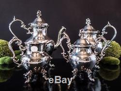 Vintage Silver Plate Tea Set Coffee Service Set Birmingham Silver Co Bsc Silver