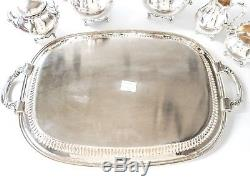Vintage Silver Plate Tea Set Coffee Service With Tray Reed Barton Provincial