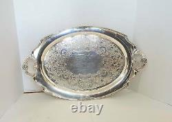 Vintage Silverplate Eternally Yours Serving Set Tray, Coffee Pots, Creamer and S