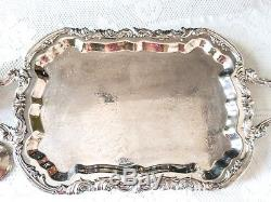 Vintage Silverplate Tea Set Coffee Service Lady Margaret With Footed Tray