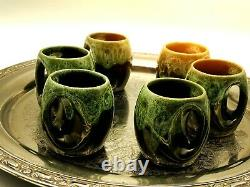 Vintage Studio Pottery Coffee Or Sipping Cups Set Of Six
