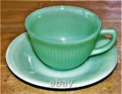 Vintage Ten Fire King Jadeite Jane Ray Ribbed Cup & Saucer Coffee/Tea Sets