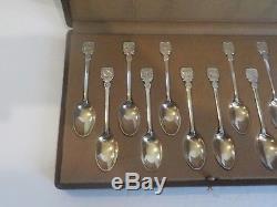 Vintage Tiffany ZODIAC Sterling Silver Coffee Spoons, Cased Set/12