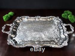Vintage Towle Silver Plate Coffee Tea Service Set With Tray 5 Piece Great Cond