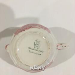 Vintage Villeroy & Boch Burgenland SAAR Maroon White Tea Coffee Set For 4