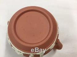 Vintage Wedgwood Coffee Pot Set Terra Cotta Wine Teapot Creamer Sugar Jasperware