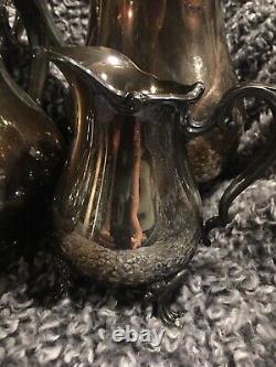 Vintage Wilcox Joanne International Silver Plate Coffee and Tea Set 5 Piece Set
