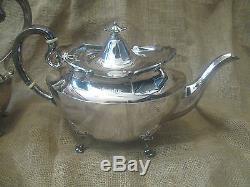 Vintage antique ASPREY London STERLING SILVER TEA SET coffee creamer sugar