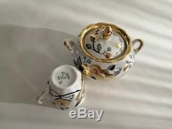 Vintage porcelain coffee set for 4 prs Verbilki USSR 15pcs