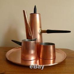 Vintage retro mid century copper coffee tea set modernist atomic Douro Portugal