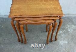 Vintage set of 3 Florentine Italy side tables Nest tables Elegant coffee tables