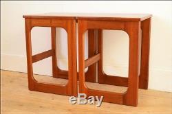 Vintage table bedside table coffee side set of 2 McIntosh teak danish design