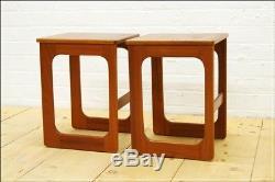Vintage table bedside table teak coffee side set of2 McIntosh teak danish design