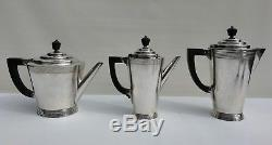 Vtg Art Deco Keith Murray Mappin & Webb Silver Plate 7 Piece Tea Coffee Set