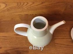 Vtg. Retro Rosenthal Bjorn Wiinblad Signed Coffee Tea Pot with5 Sets Cups & Saucer
