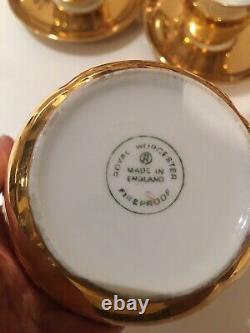 Vtg Royal Worcester Pot Gold Lustre Pillivuyt France Tea Coffee Set Cups Lot 17