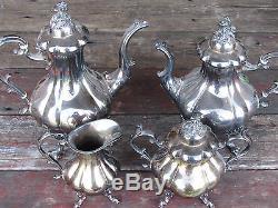 Vtg Set Reed & Barton Winthrop 1795 Silverplate Tea-coffee Set-sugar-creamer
