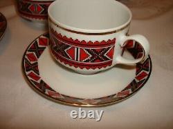 Vtg Ukrainian Design Winterling Schwarzenbach Bavaria Germany Coffee Tea Set