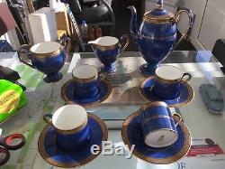 WEDGWOOD Rare Vintage Tea Coffee set, 4 Cups, Saucers, Milk Jug, Sugar & Coffee Pot