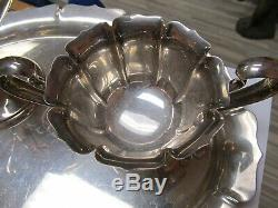 Webster Sterling Silver 3 Piece Vintage Coffee Set Including Tray V Good Cond