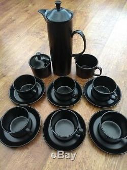 Wedgwood & Barlaston vintage black coffee set Excellent condition