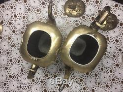 Yuchang Sterling Teapot Coffee Pot Cream & Sugar Bamboo Vintage Silver Set