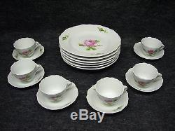 @'y' Set Of 18pc Meissen Vintage Coffee Tea Dinner Signed Porcelain'y' @
