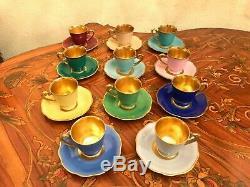 11 Tasses Vintage 11 Soucoupe Allemagne Schwarzenhammer Porcelaine Set Café