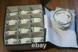12 Vintage Spode Angleterre Christmas Tree Coffee Cups & Soucoupe Sets Pristine
