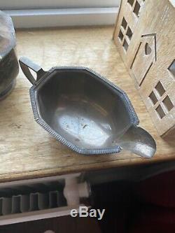 1932 George VI Argent Four Piece À Thé Et À Café. Style Art Déco Pas De Déchets