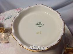 1940 Bareuther, Bavaria Vintage 3pc Set De Café En Crème / Or Beauté Parfaite