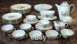 37 Pcs Vintage Lenox China Starlight Service Pour 8, Avec Service À Café Et Plats De Service