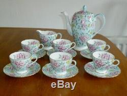 50 Vintage Foley Anglais Bone China Foley Springdale Chintz Thé Pot À Café